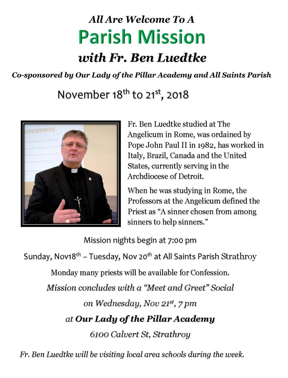 A Mission with Fr. Ben Luedtke