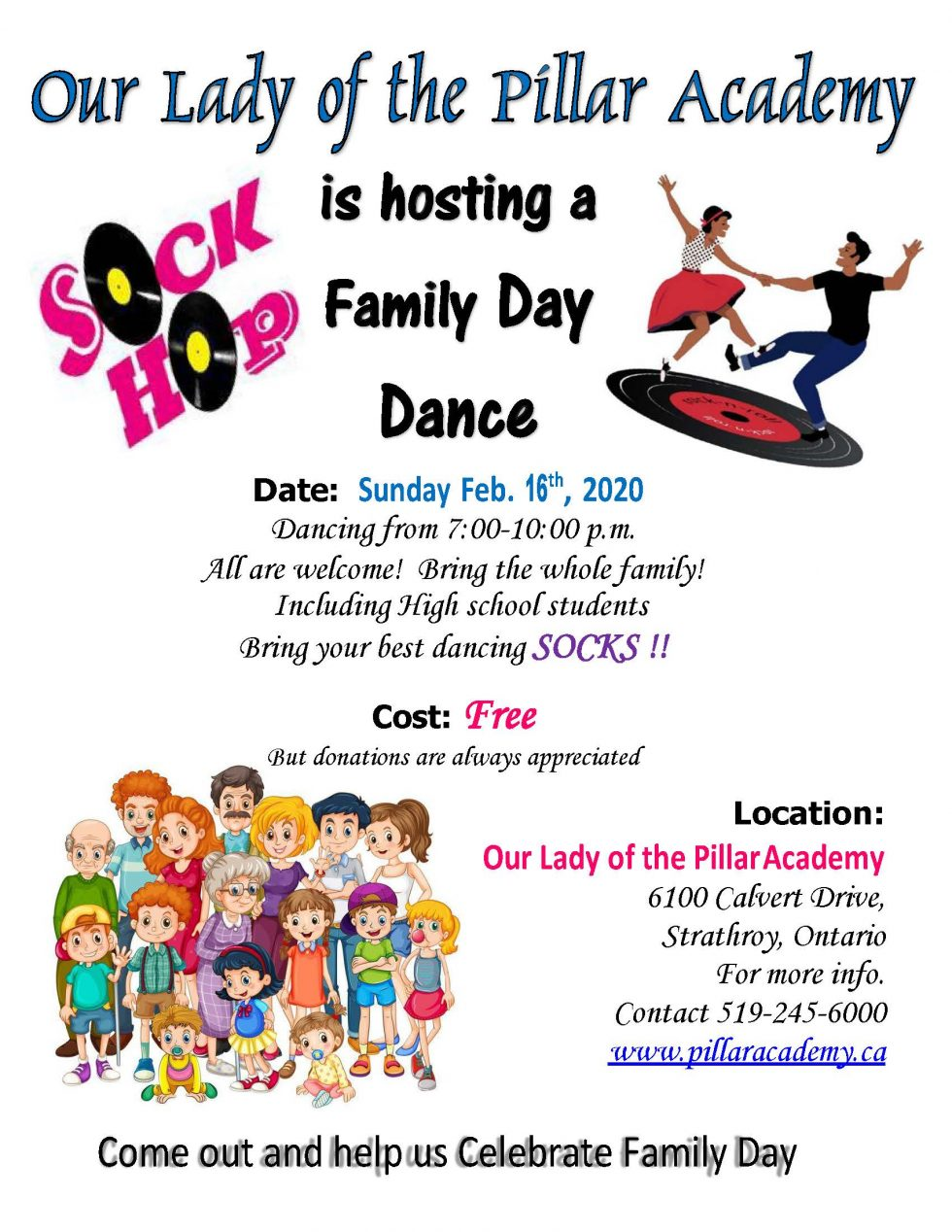 Family Day Dance on Sunday, February 16, 2020
